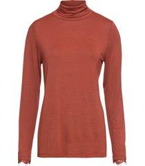 maglia a collo alto con pizzo (marrone) - bodyflirt