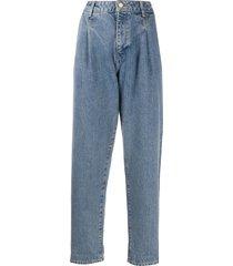 essentiel antwerp veila mid-rise jeans - blue