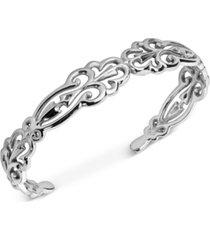 carolyn pollock filigree swirl cuff bracelet in sterling silver