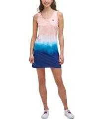 tommy hilfiger sport cutout ombre tank dress