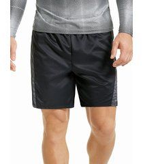 pantaloneta deportiva larga hawai para hombre-negro