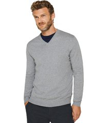 sweater cuello en v gris esprit