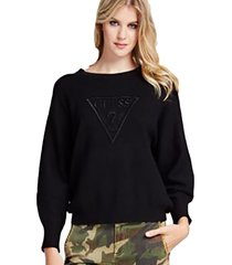 chaleco ls rn magda sweater negro guess