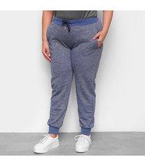 calça city lady jogger plus size feminina - feminino