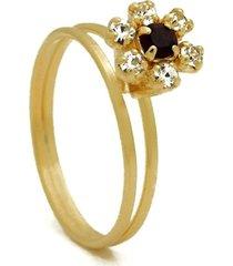 anel horus import chuveiro pedra cor rubi banhado em ouro