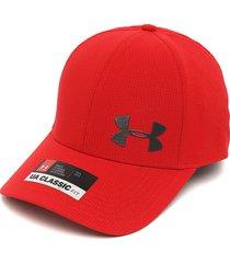 gorra rojo-gris under armour ua classic