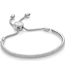 fiji diamond bar bracelet, sterling silver