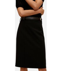mango women's pencil belt skirt