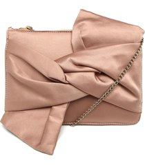 bolsa tiracolo capodarte cetim laço rosê