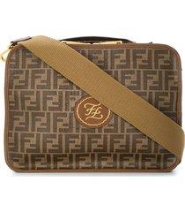 fendi ff soft travel bag - brown
