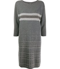 lorena antoniazzi knitted jumper dress - grey