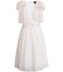 women's halogen x atlantic-pacific bow shoulder textured dot dress