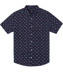 men's la fleur short sleeve woven shirt