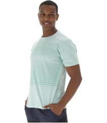 camiseta oxer listras ótico - masculina - verde claro