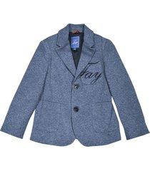 fay blue blazer with logo