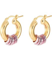 'small miami' 18k gold plated sterling silver hoops