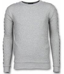 sweater enos crewneck braided