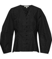 hana blouse lange mouwen zwart dagmar
