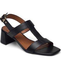 sandals 2607 shoes heels pumps sling backs svart billi bi
