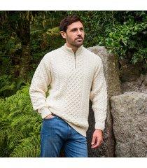 the lagan aran sweater cream xs