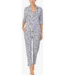 dkny sleepwear floral printed pajama set