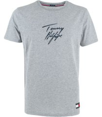 tommy hilfiger heren t-shirt - lichtgrijs