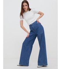motivi jeans palazzo donna blu