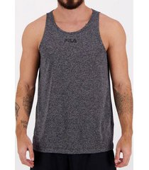 camiseta regata fila basic train melang grafite masculina