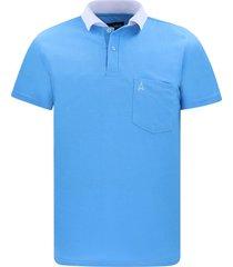 camiseta tipo polo azul claro hamer bolsillo bordado