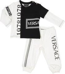 logo detail sweatshirt and sweatpants set