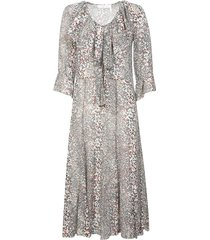 see by chloé ruffled printed long dress