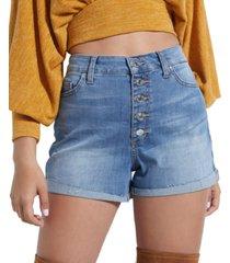 guess eco niki high-rise denim shorts