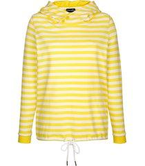 sweatshirt dress in vit::gul