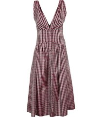 philosophy di lorenzo serafini v-neck sleeveless dress