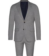 bs alsace slim, suit pak grijs bruun & stengade