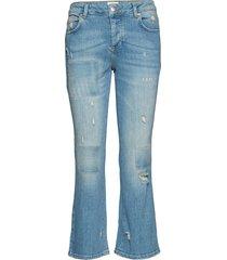 irina 241 ripped slimmade jeans blå fiveunits