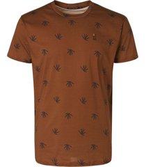 no excess t-shirt crewneck allover printed camel