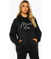 zwangerschap 'mama to be' hoodie, black