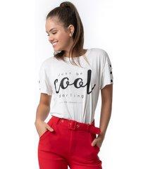 t-shirt pkd just be cool branca - kanui
