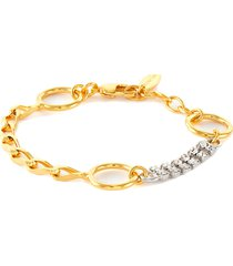 'glam riot' crystal chain bracelet