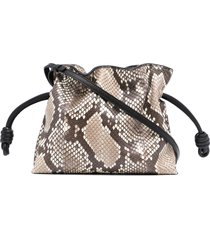 loewe flamenco drawstring bag - brown
