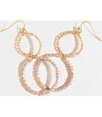 tessa bead drop earrings - pale pink