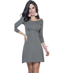 vestido corto gris atypical