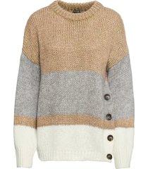 maglione oversize con bottoni (beige) - bodyflirt