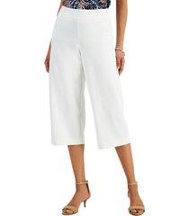 jm collection wide-leg capri pants, created for macy's