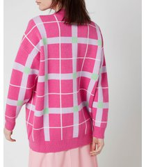 olivia rubin women's cecily cardigan - pink check - s
