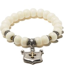 loree rodkin beaded pendant bracelet - silver gold
