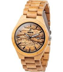reloj madera bambu y mármol nerfis