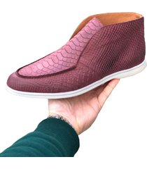 hon shoes high top croco bordeaux