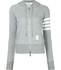 4 bar stripe zip hoodie
